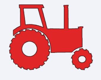 Custom Made Tractor Vinyl Decal