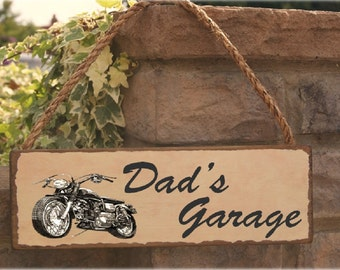 Dads garage sign gift for dad