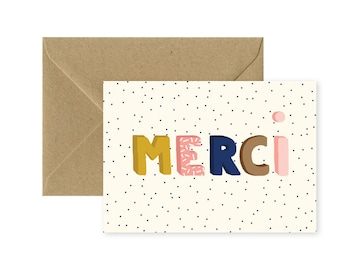 A6 card - Thank you - colorful