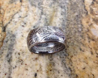 1 oz .999 Silver Eagle Ring