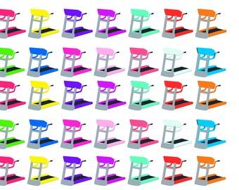 Treadmill stickers//ec hp planner stickers//icon stickers