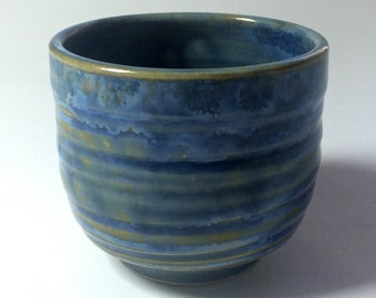 Small Hand Thrown Cup With Homemade Crystal Glaze. #7