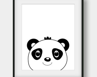 60% OFF Baby Panda Print, Nursery Wall Art, Nursery Print, Nursery Decor, Baby Panda Art, Scandinavian Print, Baby Panda Poster, Black Panda