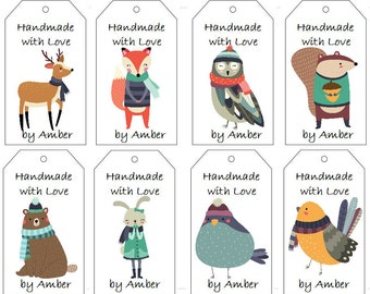 Winter Woodland Animals Gift Tags- PDF File