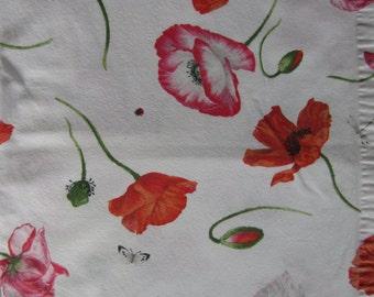 Italian Made Mirrabello Cotton Table Cloth - Poppy Pattern