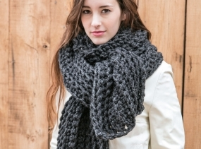 Blanket Scarf in 23 Colors . Extra Large Knit Scarf . Chunky Wool Wrap . Extra Wide Scarf . THE AMELIE in 23 color options