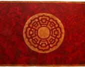 Mythala: Red Lotus; Mandala...Myth...Mythala (Wall Hanging, Altar Cloth, Prayer, Medicine Wheel, Sacred Art, Devotion, Heirloom, Spiritual)