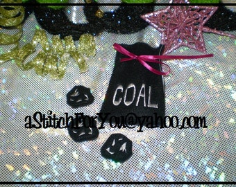 ITH Elf Size Naughty COAL Bag & 3 Piece Set  ~ In the hoop - INSTANT Download Machine Embroidery Design by Carrie