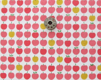 FAT EIGHTH Pink and Yellow Apple Print Cotton Lawn Sewing Fabric | Light Weight Cotton Fabric
