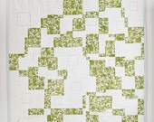 Crazy Four Patch Handmade Toile Quilt