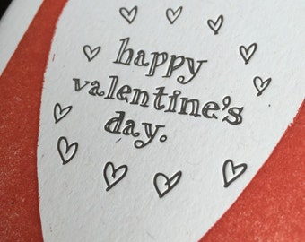 Letterpress Valentine with heart