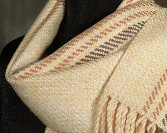 Handwoven merino wool scarf / winter scarf / yellow scarf