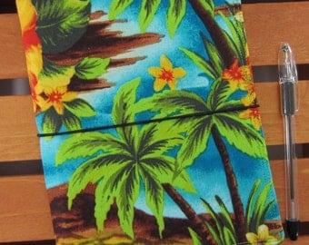 Hawiian Shirt FABdori, Fabric Travelers Notebook- A5 Size; Fauxdori: Midori Style Notebook