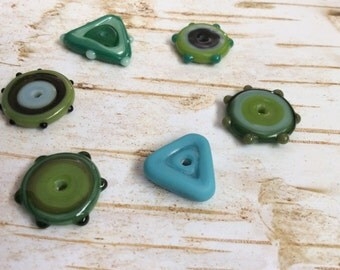 Lampwork Glass Disc Beads