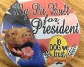 My Pit Bull Dog for President button
