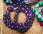 Handmade Purple Banded Agate Bracelet