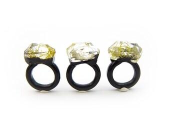 Moss Resin Ring • Nature Inspired Rings • Terrarium Ring • Terrarium Moss Jewelry • Botanical Ring • Valentine's Gift for Her • Size 6.5