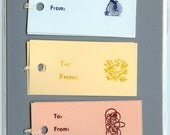 Letterpress Gift Tags, Primary Animals
