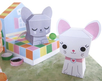 Printable Kitty Playset Paper Craft PDF