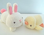Amigurumi Pattern Bunny and Chick Crochet Easter Pattern Set Digital Download