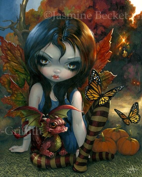 Autumn Fairy Art Print By Jasmine Becket Griffith 8x10 Four