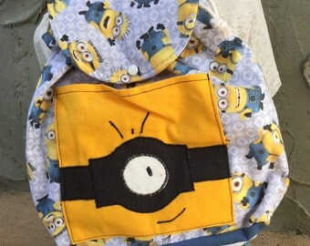 Big Kid Sized Backpack -- minion