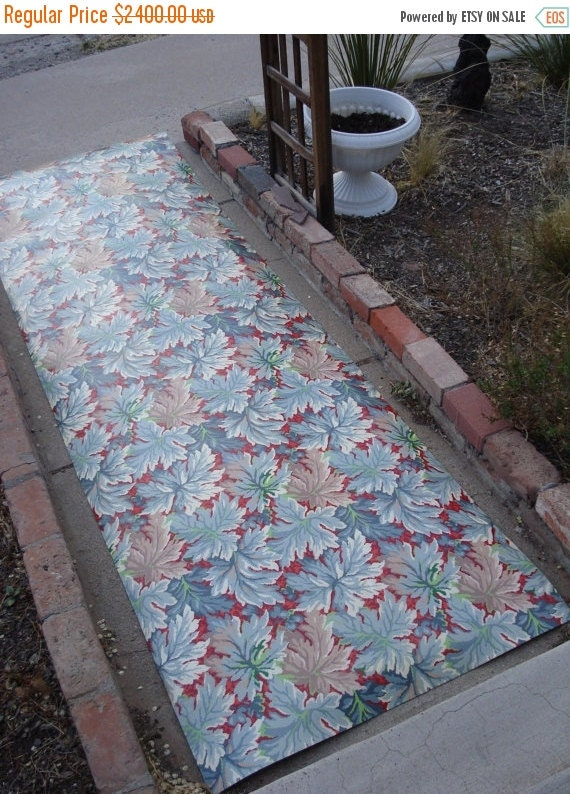 On sale vintage 1940s linoleum floor carpet mid by bycinbyhand for Linoleum flooring for sale