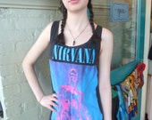Original Vintage NIRVANA Sliver Tank Top OOAK Diy T-Shirt sz M / L