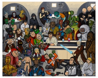 The Mos Eisley Cantina a wretched hive of scum and villainy 8x10 Print