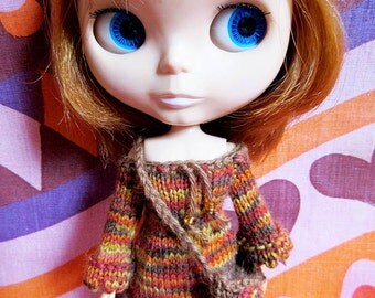 Blythe Hippie Dress & Crochet Bag Set - Amber
