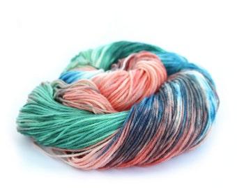 Handdyed 4ply wool, fingering Falkland Merino sock yarn, superwash knitting yarn, variegated crochet Perran Yarn Years Gone By, uk seller
