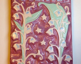 Solace Lily of the Valley Flower Art Tile