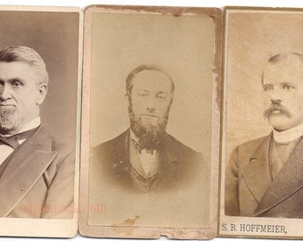 Victorian Beard lot mustache facial hair men suit fashion photo vintage
