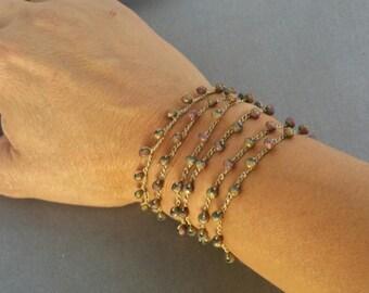 Beaded Wrap Combination Bracelet and Necklace, wrap bracelet, beaded necklace , lariat, long necklace, crochet bracelet