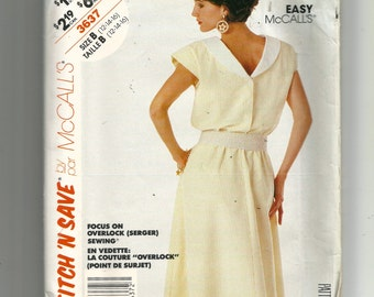 McCall's Misses' Dress Pattern 3637