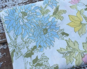 40% FLASH SALE- Vintage Floral Fabric-  Reclaimed Vintage Bed Linens Fabric-