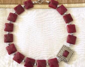 Soumya...Ruby jade - Necklace