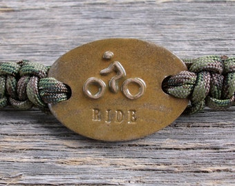 "Maggie's Farm Expression Survival Bracelet ""RIDE""  Biker"