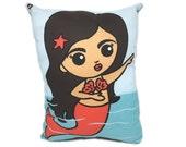 La Sirena Loteria Card Pillow