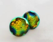 Dichroic Dot Glass Earrings