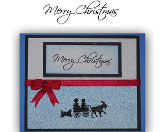 MERRY CHRISTMAS unmounted rubber stamp, holiday, DIY gift tags & Christmas cards stamp, Sweet Grass Stamps No.13