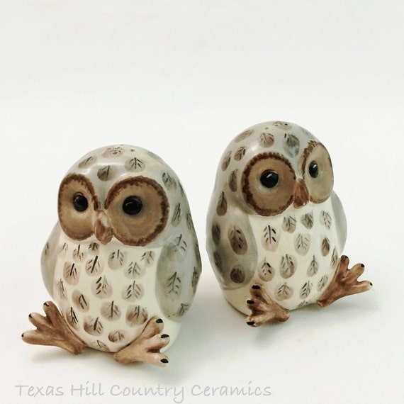 Little Owl Salt And Pepper Shakers Collectible Set For Dining
