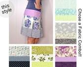 Custom - Flatering Pull On Skirt - Low Waist, Bias Cut, Comfortable - Cotton print fabric options