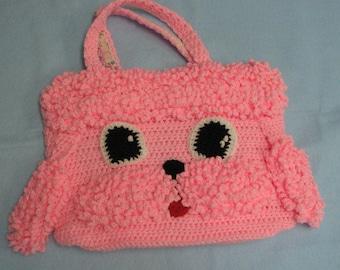 Crochet Pattern - Poodle Tote, Purse, Bag Crochet Pattern - Animal Tote - Poodle Dog Pattern - Poodle Tote - Dog Tote - Digital Download