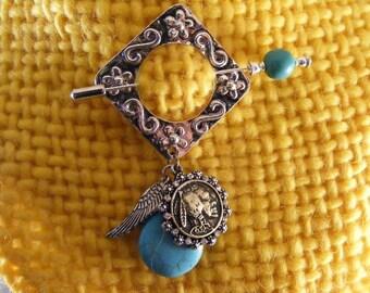 Southwest Turquoise  Shawl Pin... Lot 429165