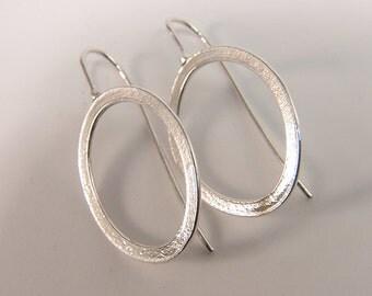 Oval dangle earrings Sterling Silver