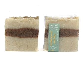 Cedarwood Bay Shea Butter Soap - All natural soap - vegan and cruelty free - sustainable palm - great for men