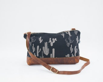 Emma Crossbody Bag in Cactus Print