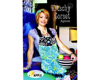 Kitschy Corset Apron Brassy Apple Sewing Pattern UNCUT