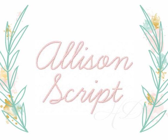 Modern handwriting script machine embroidery file monogram